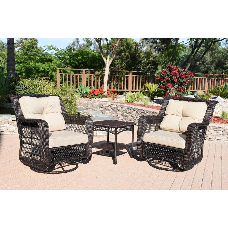 Charmant Hayden 3 Piece Conversation Set With Cushions