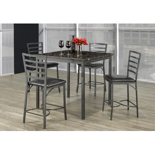 Adderley Marble 5 Piece Dining Set