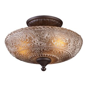 Burr 3-Light Semi-Flush Mount