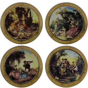 4 Piece Romantic Scenery Decorative Plate Set & Decorative Plates Youu0027ll Love | Wayfair