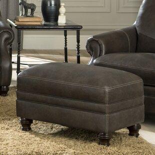 Shantell Leather Ottoman