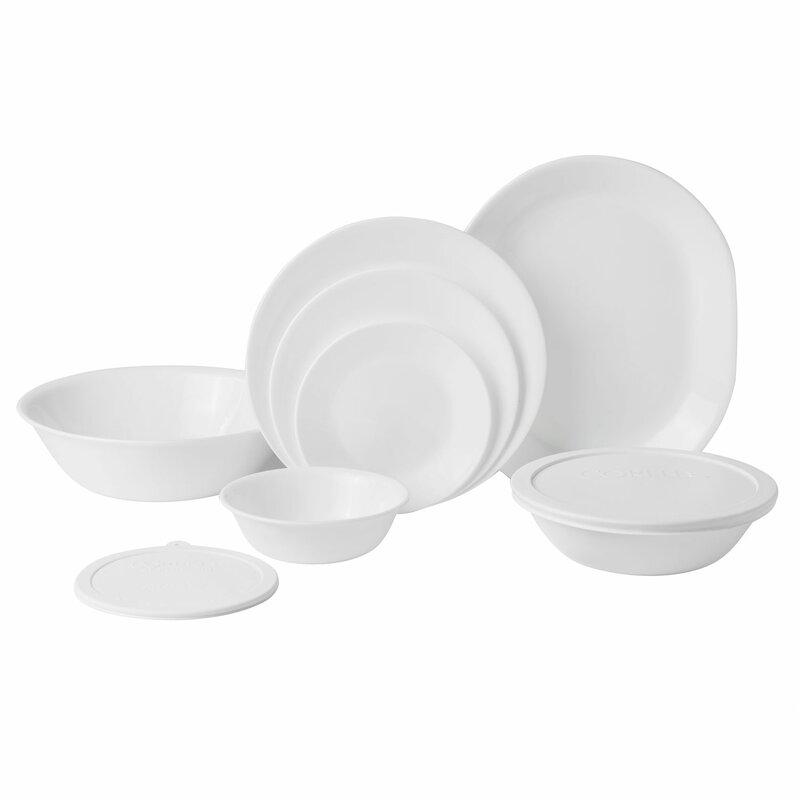 Livingware 74 Piece Dinnerware Set Service for 12  sc 1 st  Wayfair & Corelle Livingware 74 Piece Dinnerware Set Service for 12 \u0026 Reviews ...