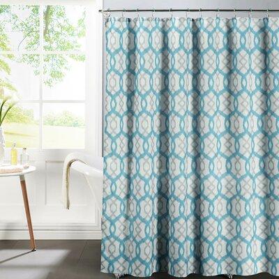 Bath Studio Faux Linen Textured Shower Curtain Set Color: Aqua