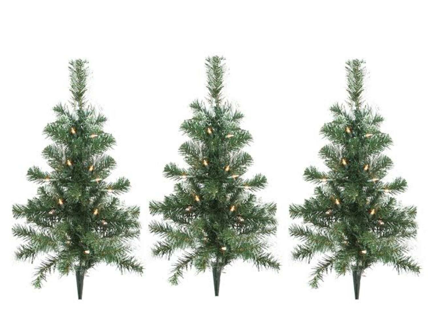 the holiday aisle christmas tree driveway or pathway marker lighting display wayfair