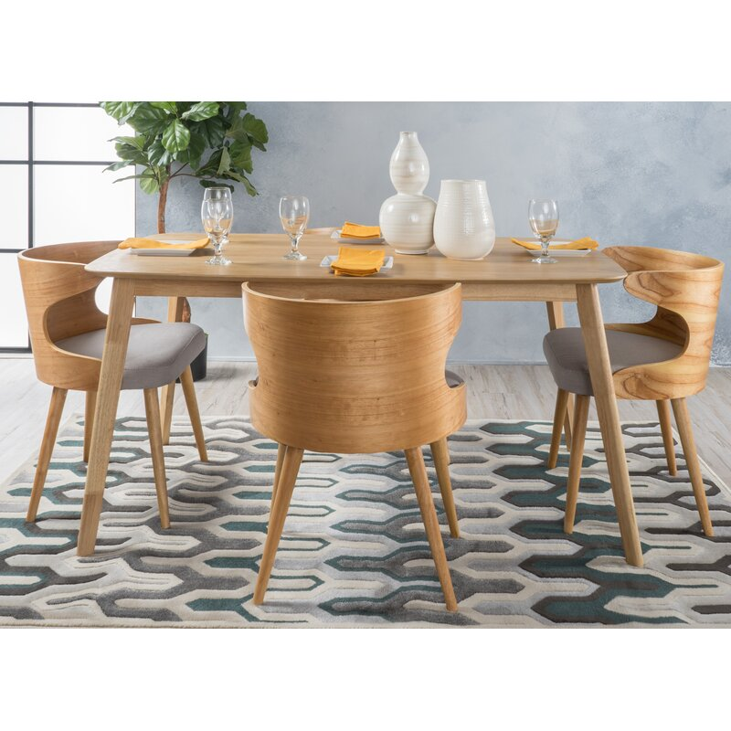 Gentil Camille 5 Piece Wood Mid Century Dining Set