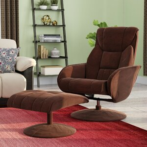 Winnols Microfiber Recliner and Ottoman