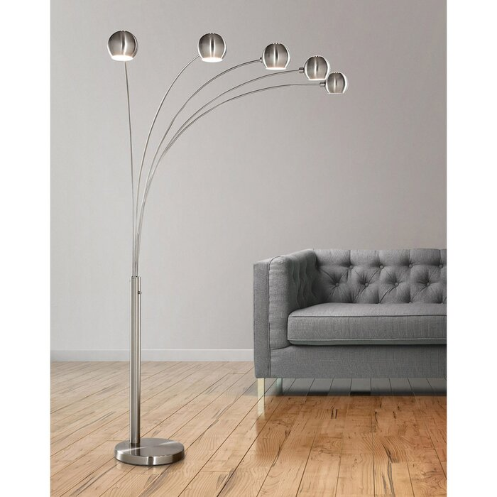Hometrend orbs 85 arched floor lamp reviews wayfair orbs 85 arched floor lamp aloadofball Images