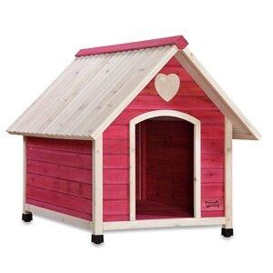 Fern Arf Frame Dog House in Pink