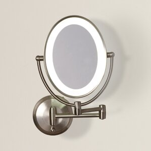 Lighted Wall Mount Makeup Mirror makeup & shaving mirrors you'll love | wayfair