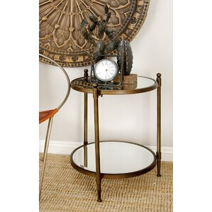 Metal and Mirror End Table by Cole & Grey