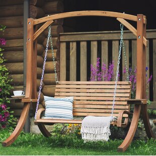 Garden Wooden Swing Chair Wayfair Co Uk