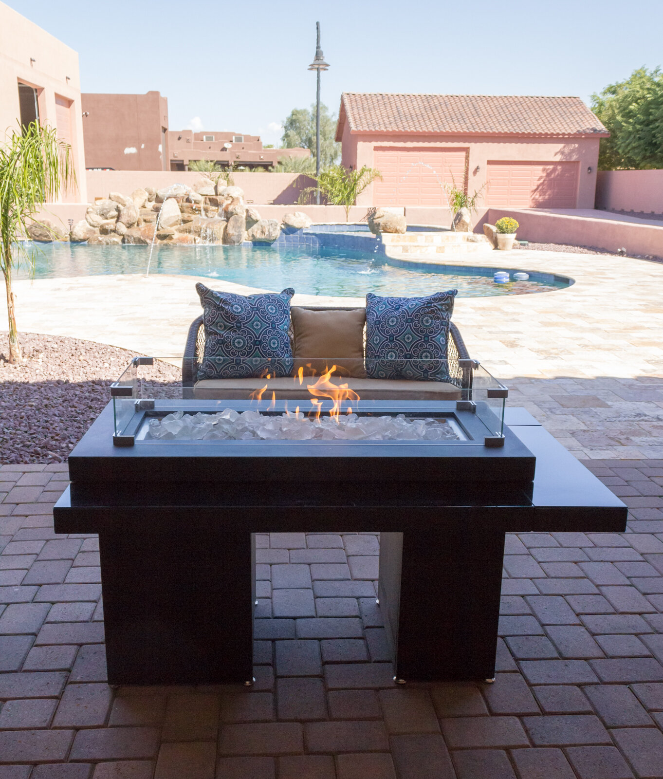 Az Patio Heaters Two Tiered Steel Propane Fire Pit Table Reviews