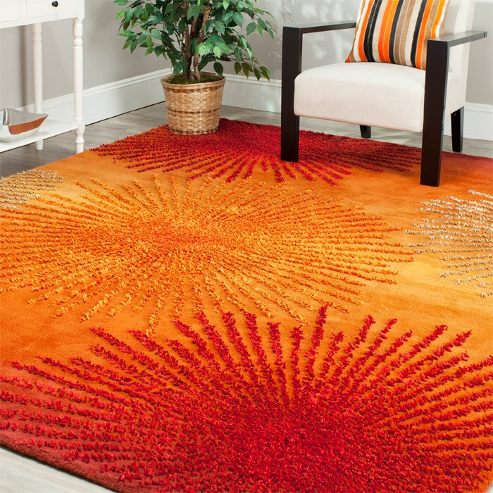 Freda Rust Orange Area Rug