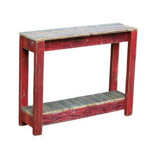 red console tables you ll love in 2019 wayfair rh wayfair com red distressed sofa table red oak sofa table