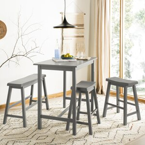 Stephenson 4 Piece Pub Table Set by Gracie Oaks