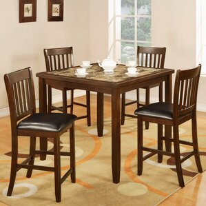 Zoho 5 Piece Counter Height Dining Set by Roundhill Furniture