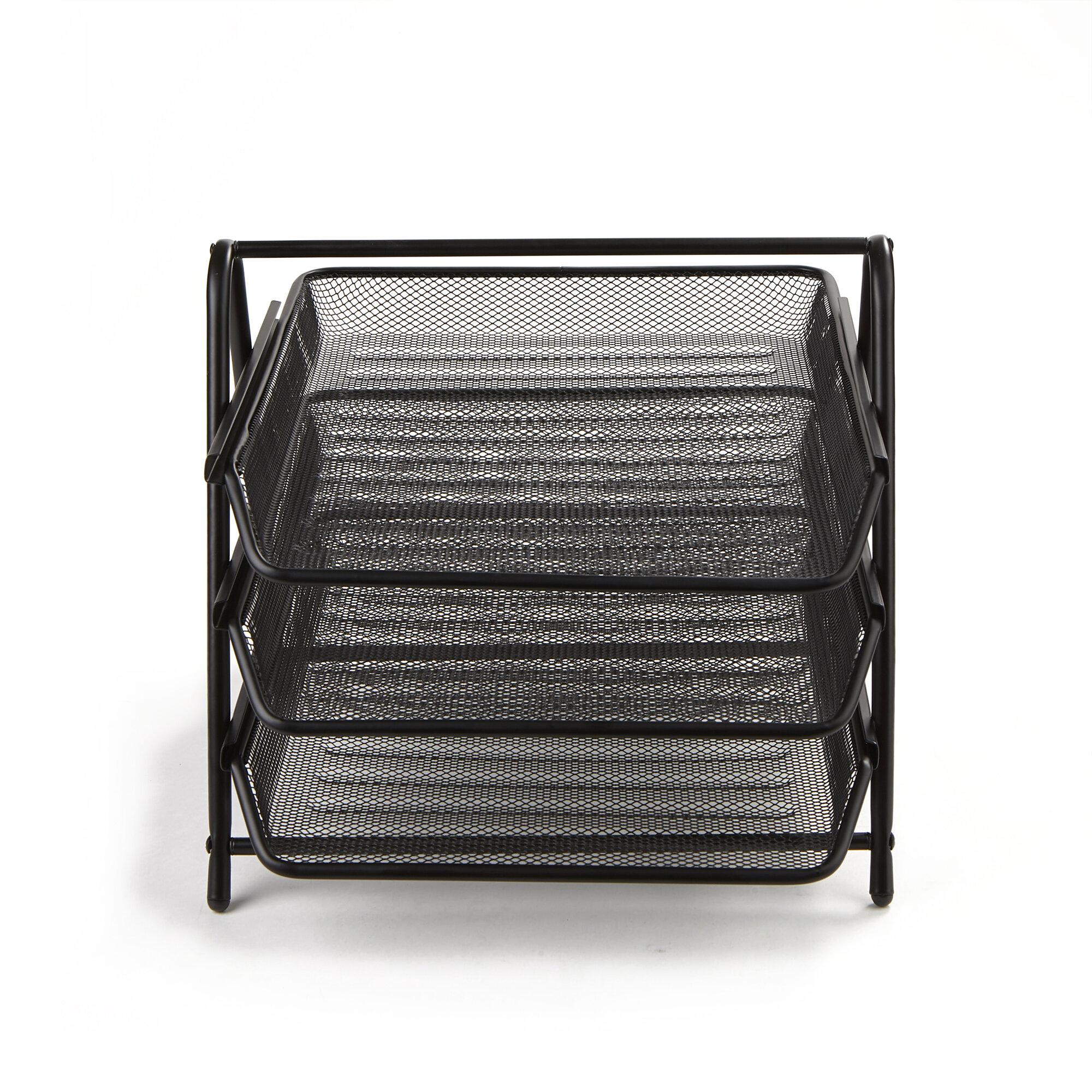 Mind Reader 3 Tier Steel Mesh Paper Tray Desk Organizer | Wayfair