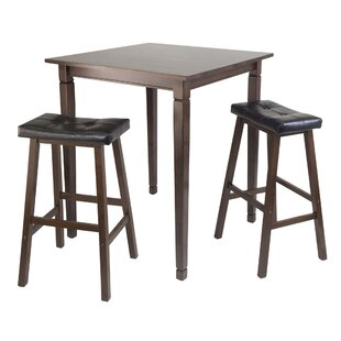 Hemphill 3 Piece Counter Height Pub Table Set