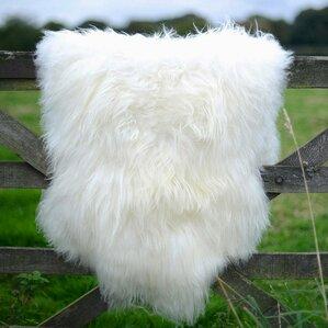 Delightful Giant Size Genuine Sheepskin Soft Wool White Area Rug
