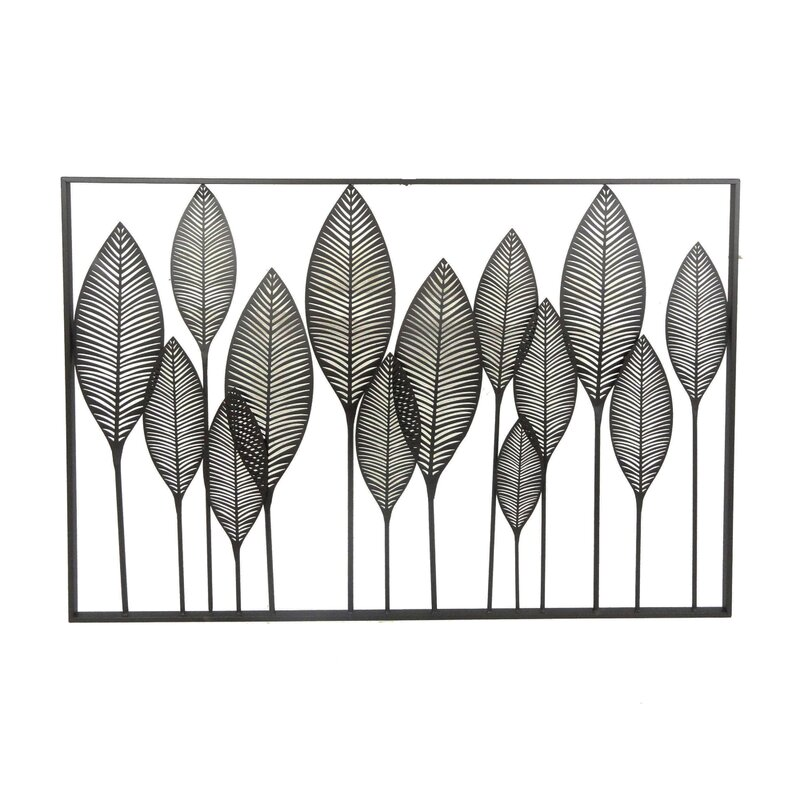Beau Metal Leaves Wall Décor