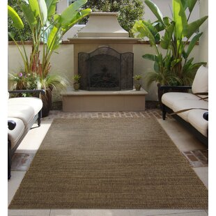 Stembridge Chestnut Brown Indoor Outdoor Area Rug
