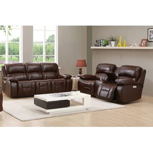 HYDELINE BY AMAX Westminster II Leather 2 Piece Living Room Set