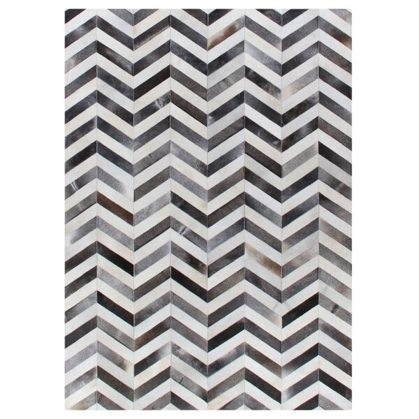 Exquisite Rugs Natural Hide Hand Woven Cowhide White Gray Area Rug Wayfair