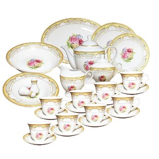 49 Piece Dinnerware Set Service for 8  sc 1 st  Wayfair & Porcelain Dinnerware Sets