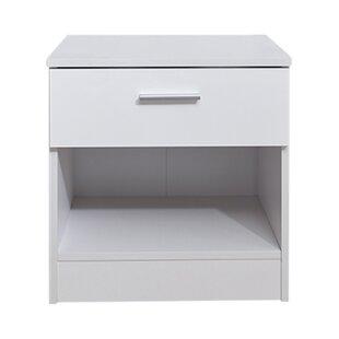 Slim white bedside table wayfair save watchthetrailerfo