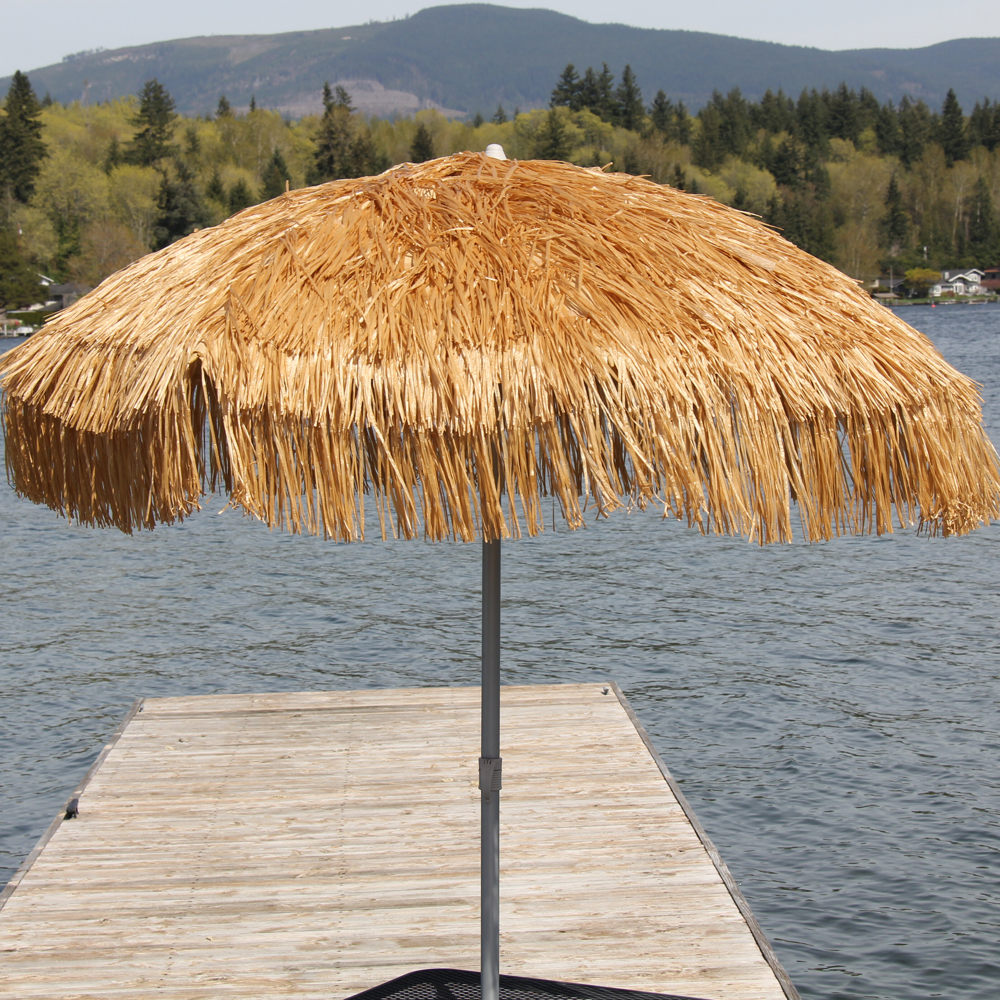 Image of: Beach Umbrella On Parasol Palapa 6u0027 Beach Umbrella u0026 Reviews Wayfair