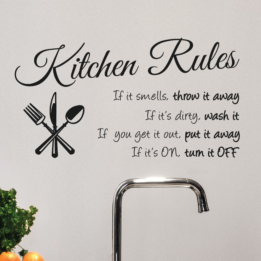 Innovative Stencils Kitchen Rules Wall Decal & Reviews | Wayfair on 1940s kitchen ideas, new construction kitchen ideas, garden kitchen ideas, beige kitchen ideas, country blue kitchen ideas, steel kitchen ideas, glass kitchen ideas, lowe's kitchen ideas, shelving kitchen ideas, floor kitchen ideas, inexpensive kitchen ideas, cement kitchen ideas, best kitchen ideas, red kitchen ideas, plywood kitchen ideas, furniture kitchen ideas, whimsical kitchen ideas, vintage small kitchen ideas, 2015 kitchen ideas,