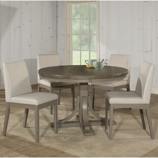Kinsey 5 Piece Dining Set with Upholstered Chairs
