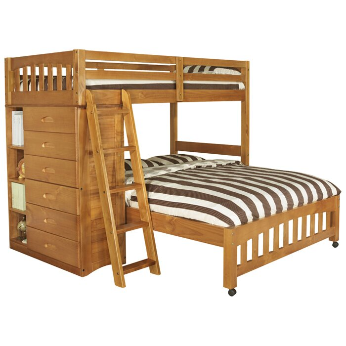 Viv Rae Kaitlyn L Shaped Twin Over Full Bunk Bed