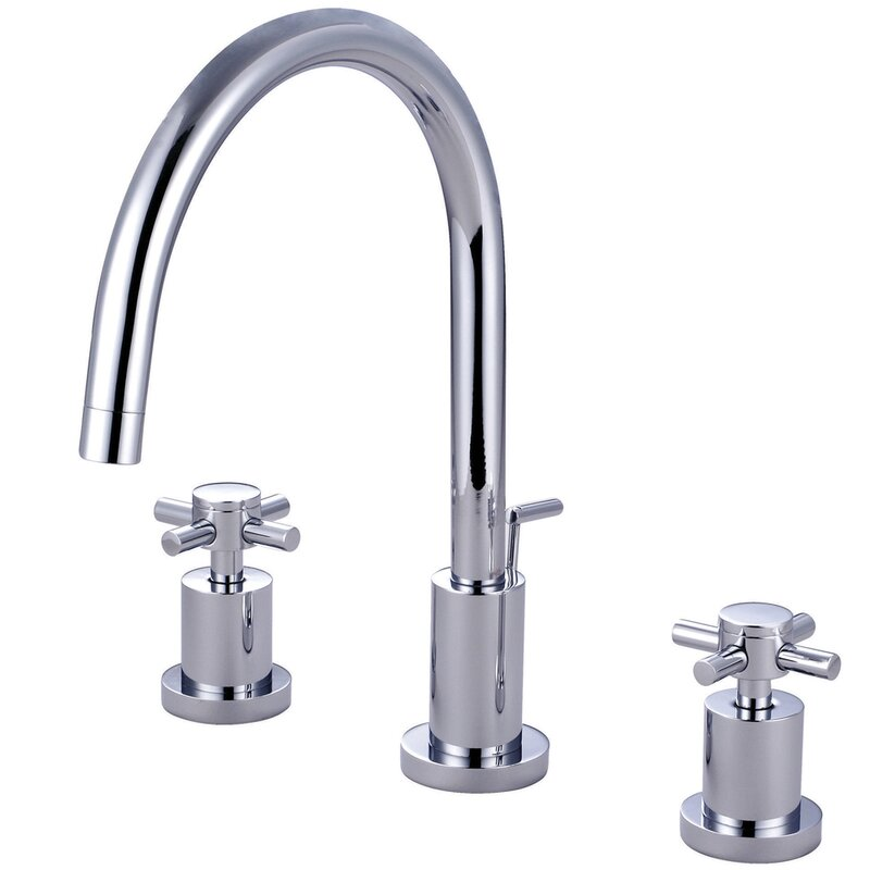 Elements of Design Chrome/Polished Brass 2-Handle 4-in Mini Widespread  Bathroom