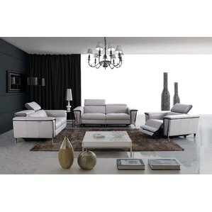 Baccus 3 Piece Leather Living Room Set by Wade Logan