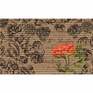 Highlands 3D Vintage Floral Peony Doormat