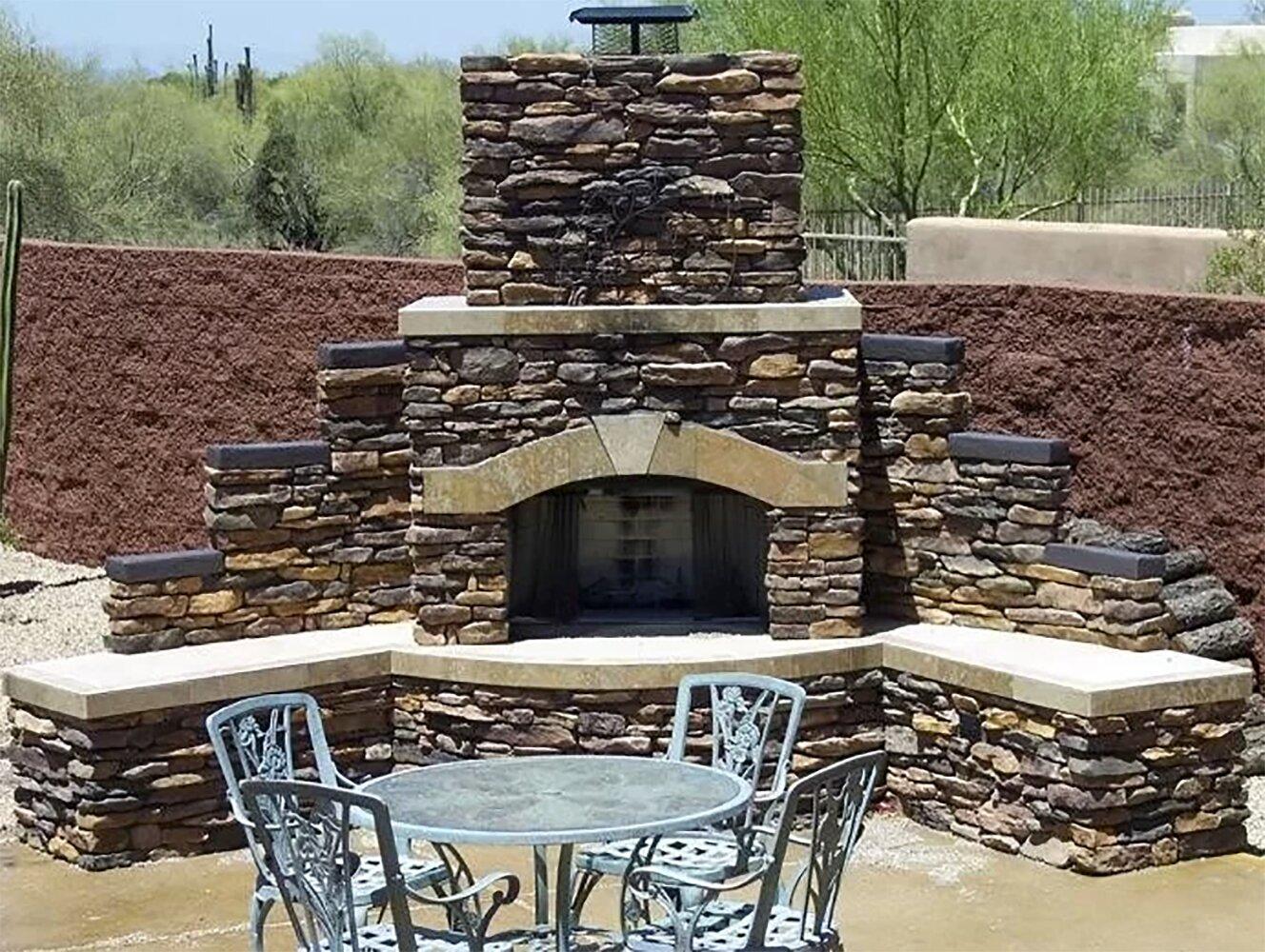 Kokomo Grills Santa Fe Stone Gas Outdoor Fireplace Wayfair
