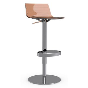 L'Eau Adjustable Height Swivel Bar Stool by Calligaris
