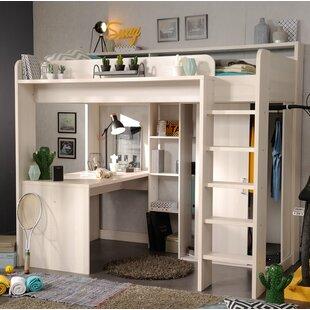Hochbett Mit Leiter, Schreibtisch, Kleiderschrank Und Regal, 90 X 200 Cm