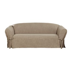 Textured Linen Box Cushion Sofa Slipcover by Sure Fit
