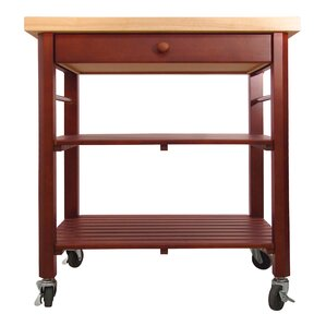 Roll About Kitchen Cart with Wood Top by Catskill Craftsmen, Inc.
