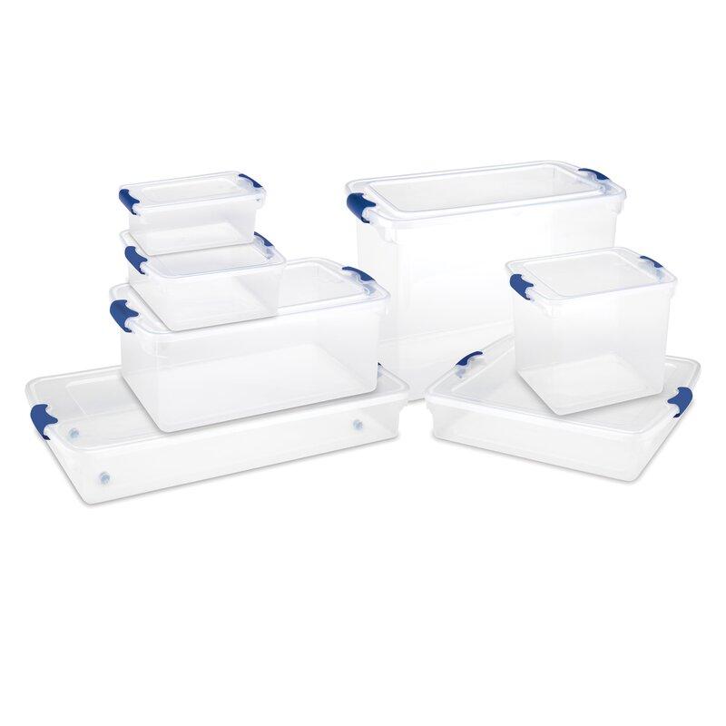 614923da8485 31 Quart Latching Plastic Storage Tote