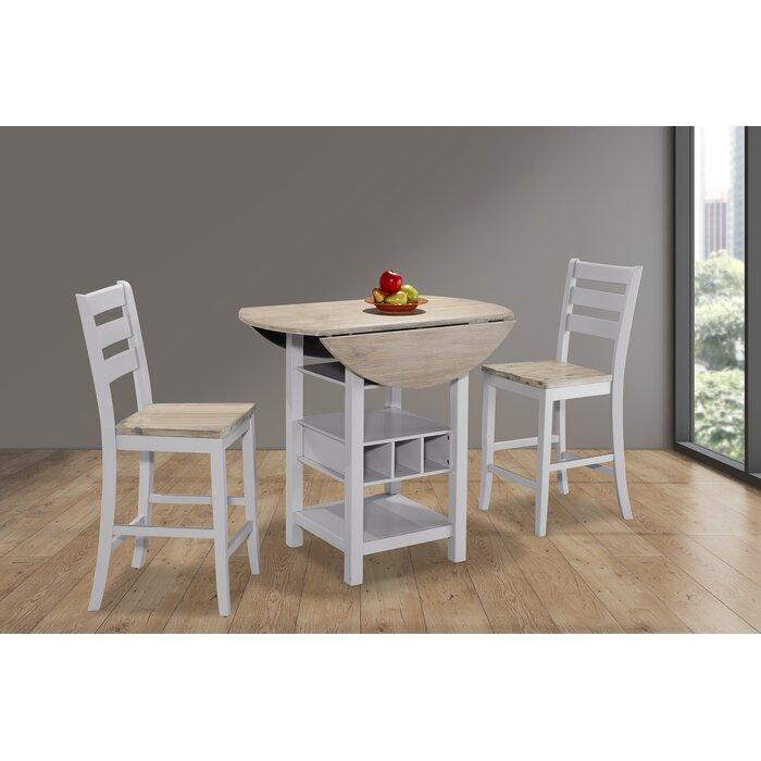 August Grove Rosaline Counter Drop Leaf Dining Table Wayfairca
