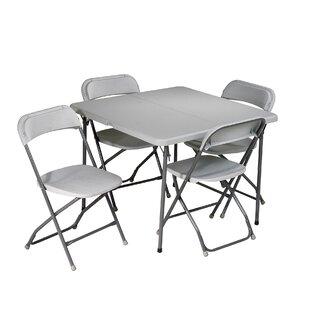 5 Piece 36 Square Folding Table Set