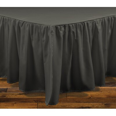 Brielle Stream 15 Bed Skirt Color: Dark Gray, Size: California King