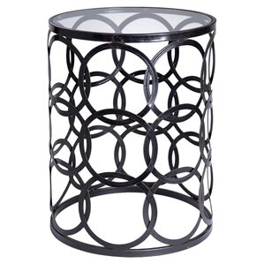 Barrel End Table by Home Essentials and Beyond