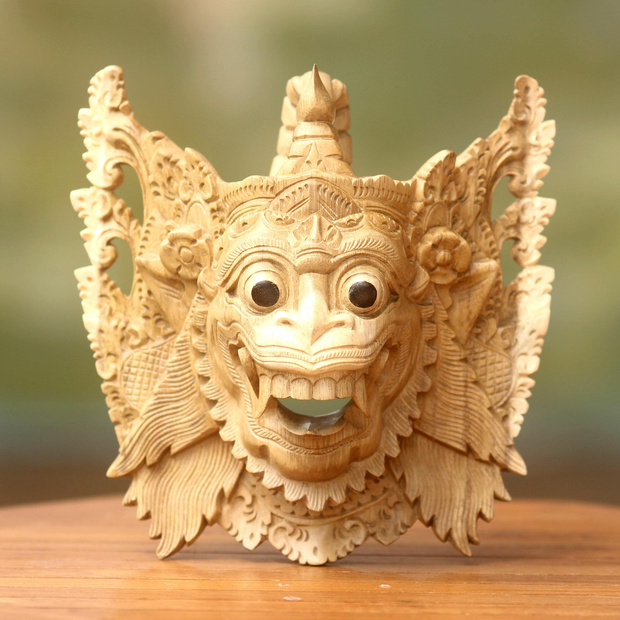 Novica Made Mulyani Ramayana Theme Hindu Mask Wall Decor | Wayfair