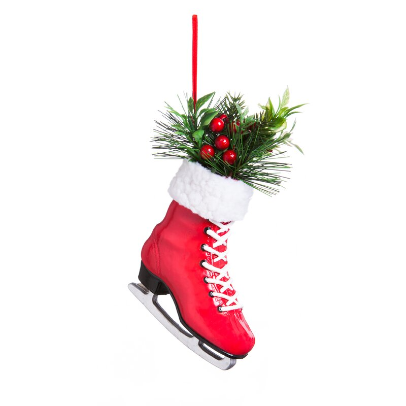 plastic ice skate ornament accessory set
