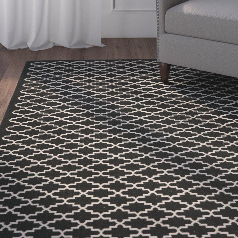 safavieh innen au enteppich courtyard in schwarz beige. Black Bedroom Furniture Sets. Home Design Ideas