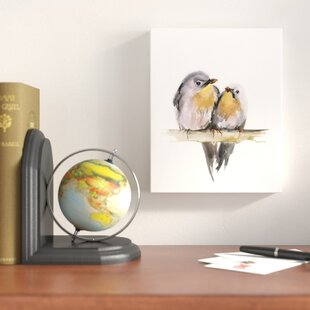 U0027Bird Coupleu0027 Print On Wrapped Canvas